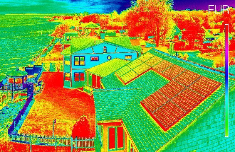 Seguimiento de obras con camaras termicas drones Vextra Media Cantabria