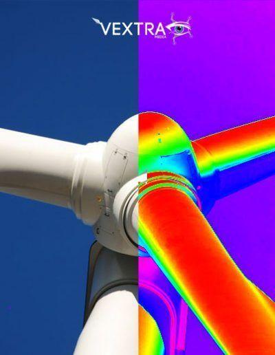 Turbina eolica rgb y flir con drones vextra
