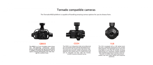 Camaras compatibles con Yuneec Tornado h920 Vextra Media Cantabria